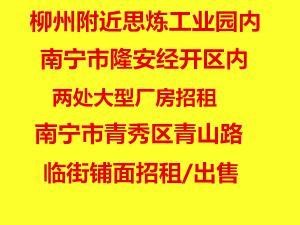 南宁市多处厂房仓库、综合楼旺铺招租/出售