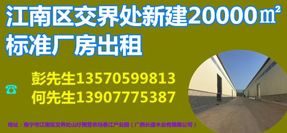 南宁市江南区交界处20000平米大型全新标准厂房仓库招租